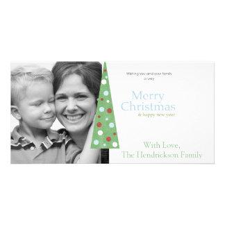 whimsical christmas tree photo greeting card