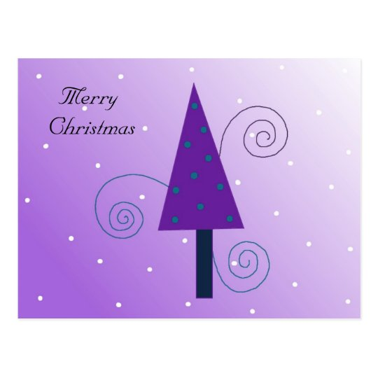 Whimsical Christmas Tree Postcard