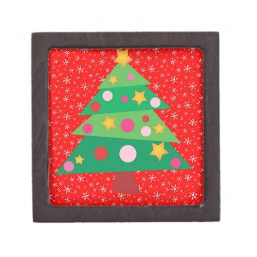 Whimsical Christmas Tree Premium Jewelry Box