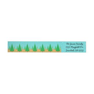 Whimsical Christmas Tree Return Address Labels