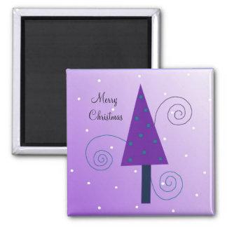 Whimsical Christmas Trees Magnet