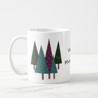 Whimsical Christmas Trees Coffee Mugs
