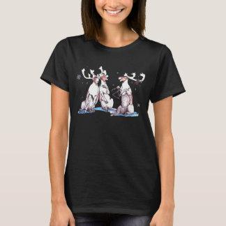 Whimsical Christmas Wildlife Singing Caribou T-Shirt