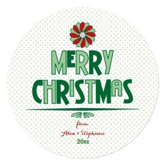 Whimsical Christmas Word Art Holiday Card