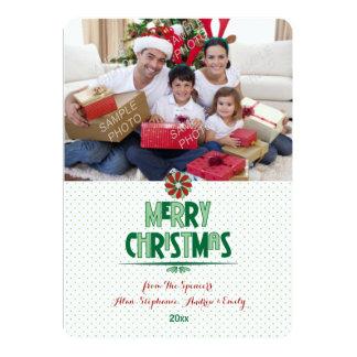 Whimsical Christmas Word Art Photo Holiday Card