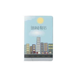 Whimsical City Scene Pocket Moleskine Notebook