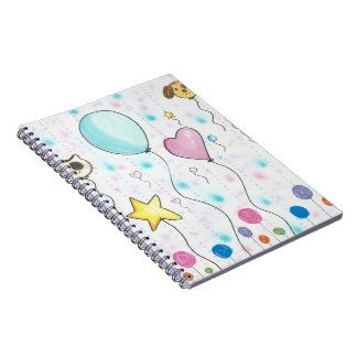 Whimsical Colored Candy BalloonsNotebook Journal