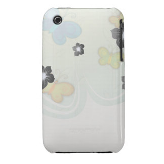 whimsical colorful butterfliles background iPhone 3 case