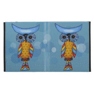 Whimsical Colorful Fantasy Owl iPad Folio Case
