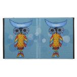 Whimsical Colorful Fantasy Owl iPad Folio Cover