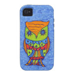 Whimsical Colorful Fantasy Owl iPhone 4/4S Case