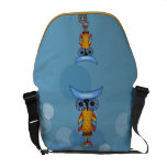 Whimsical Colorful Fantasy Owl Messenger Bags