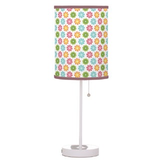 whimsical colorful flowers table lamp