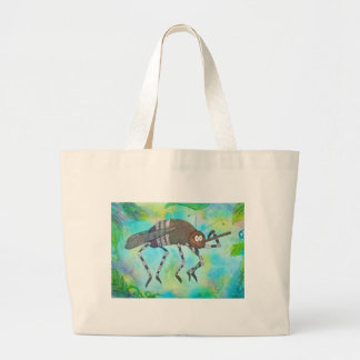 Whimsical Colorful Mosquito Flexing Muscles Funny Bag