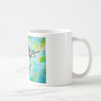 Whimsical Colorful Mosquito Flexing Muscles Funny Coffee Mug