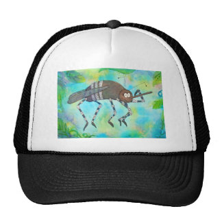 Whimsical Colorful Mosquito Flexing Muscles Funny Trucker Hat