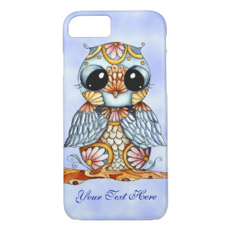 Whimsical Colorful Owl Blue Sky iPhone 7 Case