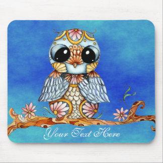 Whimsical Colorful Owl Customizable Mousepad
