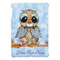 Whimsical Colorful Owl iPad Mini Case Vertical