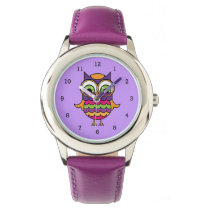 Whimsical Colorful Owl Watch