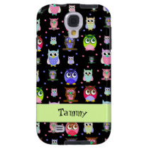 Whimsical Colorful Owls Samsung Galaxy S4 Case