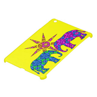 Whimsical Colorful Paisley Elephants In The Sun Case For The iPad Mini