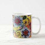 Whimsical, Colorful Snowflake Mug