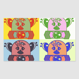 WHIMSICAL COLORFUL SPACE BOT STICKERS