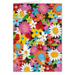 Whimsical Colorful Spring Flowers Garden Note Card