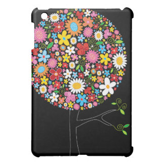 Whimsical Colorful Spring Flowers Pop Tree Nature iPad Mini Cases
