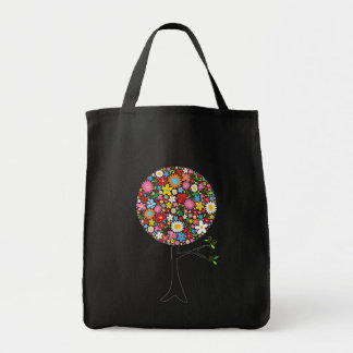 Whimsical Colorful Spring Flowers Pop Tree Nature Tote Bag