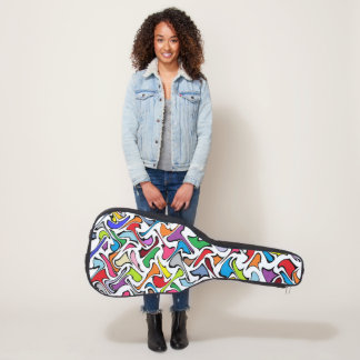Whimsical Colors Guitar Case