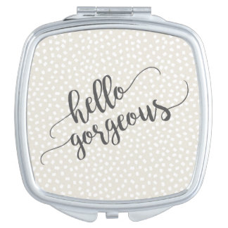 Whimsical Confetti Dots Hello Gorgeous Makeup Mirror