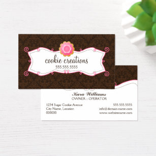 Whimsical cookies business cards templates zazzle whimsical cookie bakery business card colourmoves