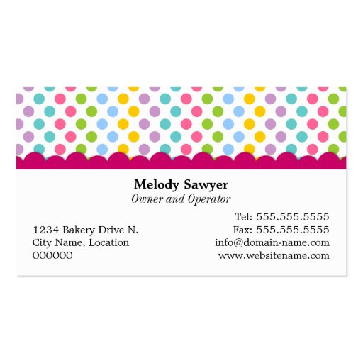Whimsical Cookie Pops Business Cards (back side)