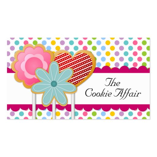 Whimsical Cookie Pops Business Cards (front side)