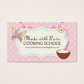 Whimsical Cooking Class Business Card