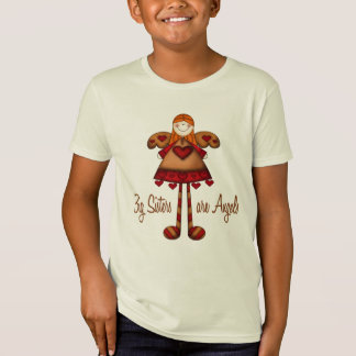 Whimsical Country Angel Big Sister Are Angels T-Shirt