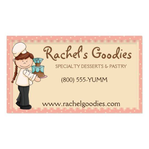 Whimsical Country Baker Business- Profile Card Business Card Templates (front side)