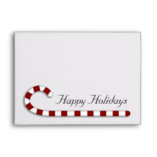 Whimsical Country Candy Cane Envelopes