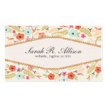 Whimsical Country Wild Flowers Pattern Business Card