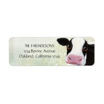 Whimsical Cow Return Address Labels