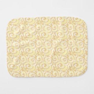 whimsical cream pattern baby burp cloth