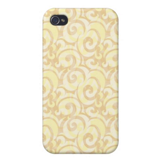 whimsical cream pattern iPhone 4 cover