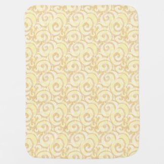 whimsical cream pattern baby blankets