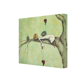 Whimsical Creeper Art Canvas Print - Sweet Dreams