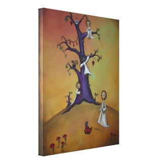 Whimsical Creeper Canvas Art 11x14 Canvas Print