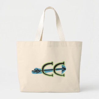 Whimsical Cross Country - CC Symbol Large Tote Bag