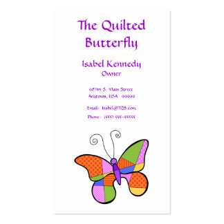 Whimsical Cubism Butterfly Business Cards