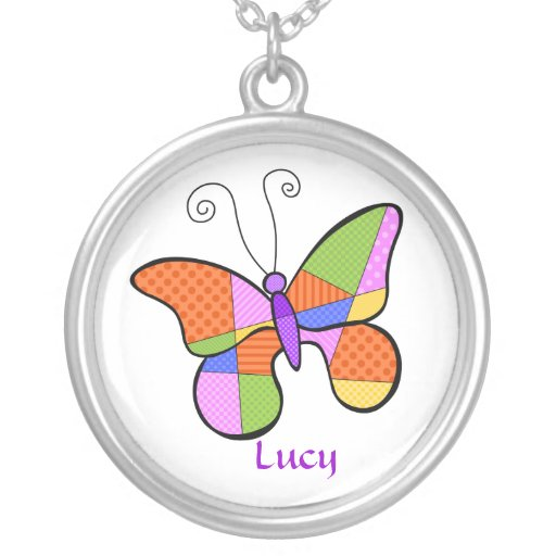 Whimsical Cubism Butterfly Necklace